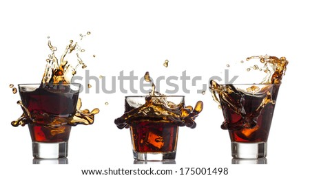 Cola splash - stock photo