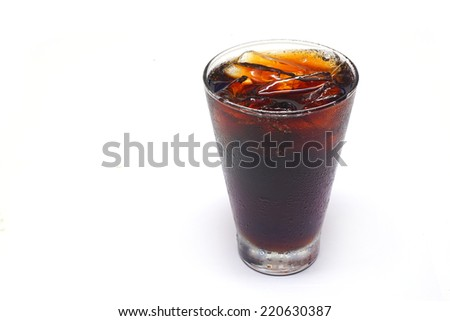 Cola with ice.
