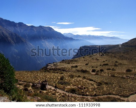 Colca Canyon in Peru - stock photo