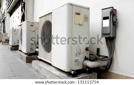 cold  Air Compressor electric powerful - stock photo