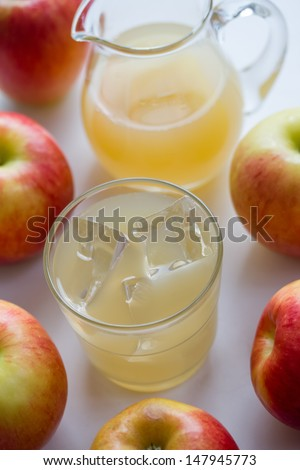 cold apple juice