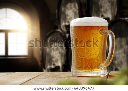 Cold beer on desk space