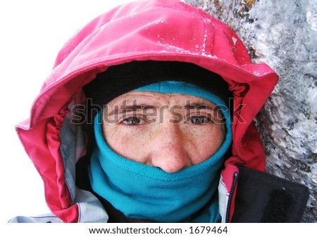 Cold Climber - stock photo