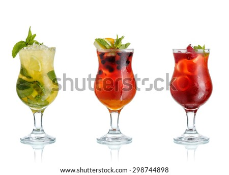 Cold coctails - stock photo