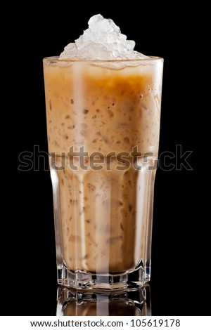 Cold coffee - stock photo