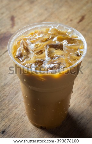 Cold Coffee On Wood
