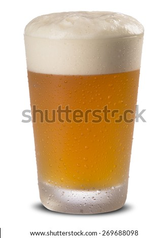 cold craft beer cup - stock photo