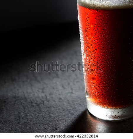 Cold dark beer - stock photo