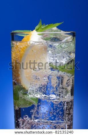 cold fresh lemonade. - stock photo