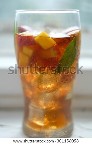 Cold fruit tea