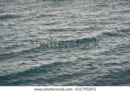 cold sea waves