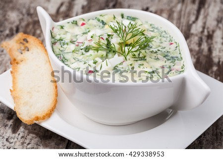 Cold soup okroshka