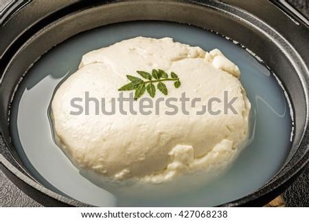 Cold tofu - stock photo