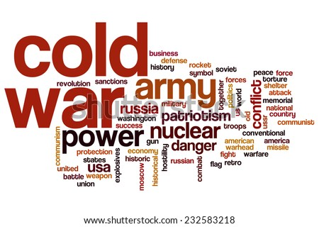 Cold war word cloud concept - stock photo