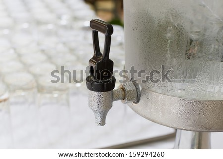 Cold water dispensers - water cooler - stock photo