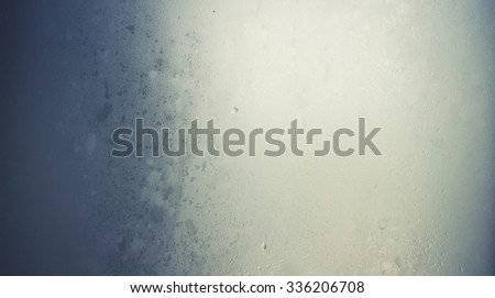 Cold wet glass ambient background. - stock photo