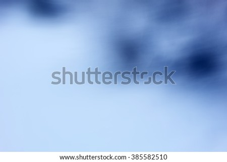 cold winter blue background, abstract blur natural