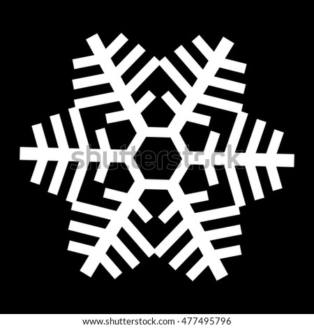 Cold Winter Snowflake Symbol Stock Illustration 477495796 Shutterstock