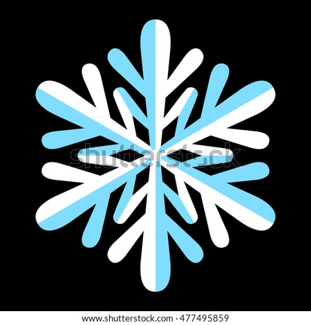 Cold Winter Snowflake Symbol Stock Illustration 477495859 Shutterstock