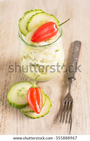 Coleslaw in a glass