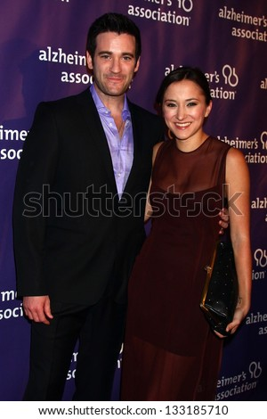 "Colin Donnell, Zelda Williams at the 21st Annual ""A Night at Sardi's"" to Benefit the Alzheimer's Association, Beverly Hilton, Beverly Hills, CA 03-20-13 - stock photo"