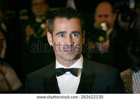 Colin Farrell attends the 'Lobster' Premiere during the 68th annual Cannes Film Festival on May 15, 2015 in Cannes, France. - stock photo