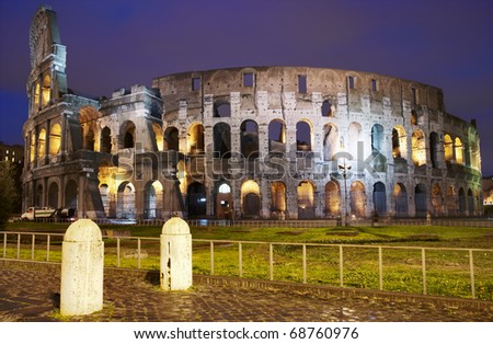 Coliseum in Rome at night