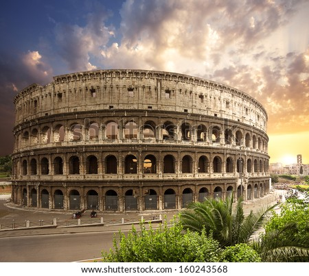 Coliseum. Rome. Italy. - stock photo