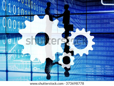 Collaboration Colleague Cooperation Connection Support Concept - stock photo