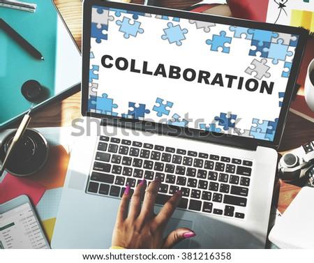 Collaboration Group Team Partnership Teamwork Concept - stock photo