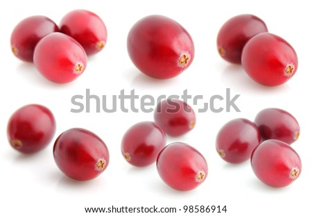 Collage from fresh cranberries - stock photo