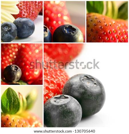 Collage fruit - stock photo