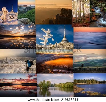 collage landscape - stock photo