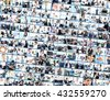 collage made of business pictures - stock photo