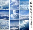 Collage made of many air shoots. Very good as illustration. - stock photo