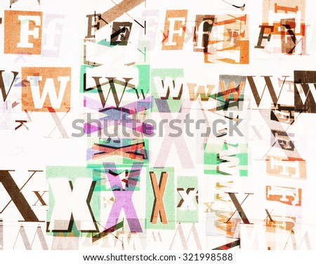 Collage made of newspaper and magazine clippings. Designed background - stock photo