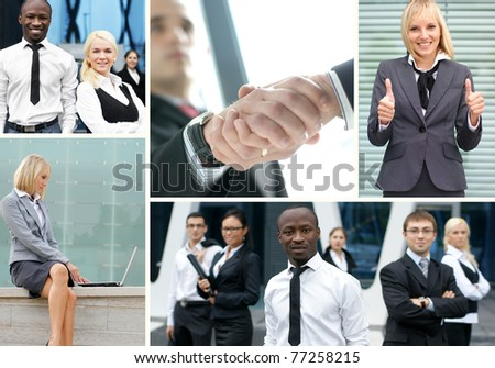 Collage made of some business pictures - stock photo