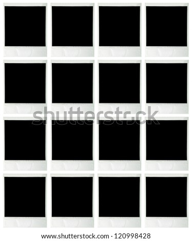 Collage of blank instant images - stock photo