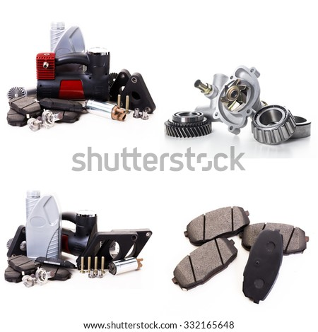 Collage of car parts - stock photo