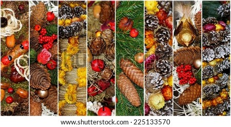 Collage of Christmas - stock photo