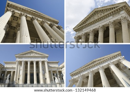 collage of courthouse - stock photo