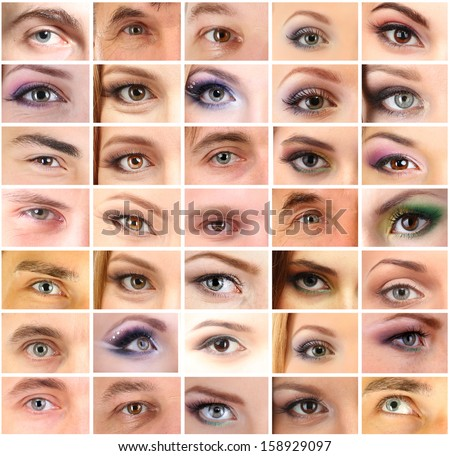 Collage of different people's eyes