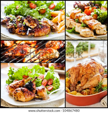 Food collage stock images royalty free images vectors for Different meals to make with chicken