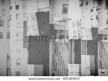 Collage of fragments of buildings - stock photo