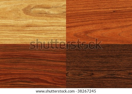 Collage of high-detailed wood textures