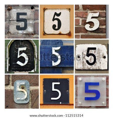 Number 5 stock images royalty free images vectors for Photo collage number templates