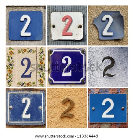 Collage of House Numbers Two - stock photo