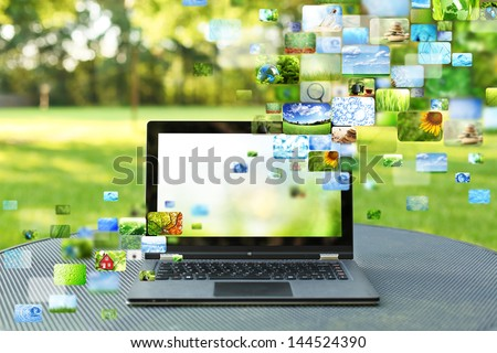 Collage of images - stock photo