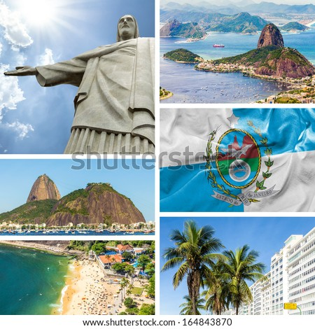 Collage of images from Rio de Janeiro, Brazil, Latin America - stock photo