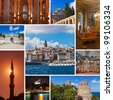 Collage of Istanbul Turkey images - architecture and tourism background (my photos) - stock photo
